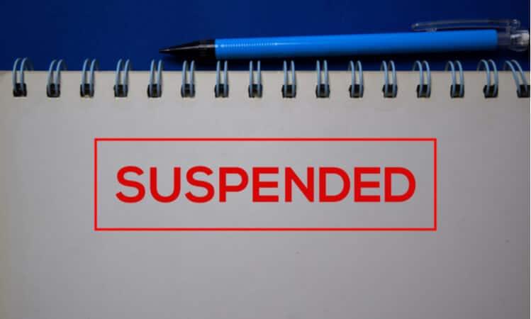 suspended notice
